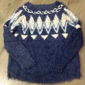 LC Lauren Conrad Oversized Fuzzy Sweater